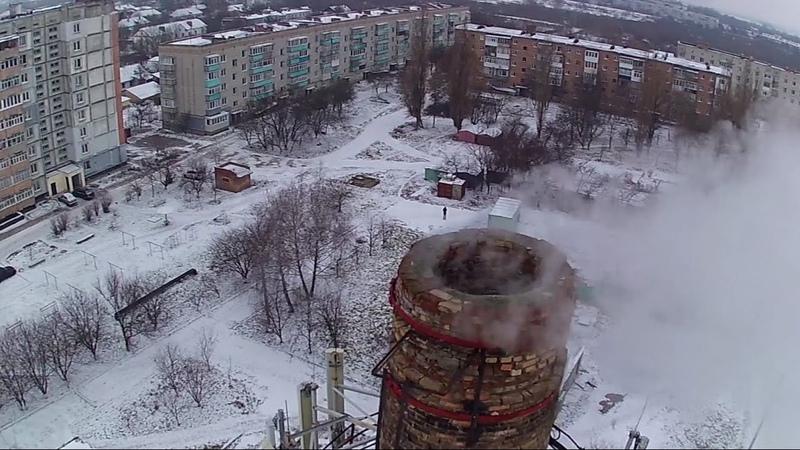 Зима снег и квадрокоптер. Конотоп