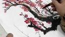 國畫山水影音教學園區-雪梅圖-林振彪 -Chinese Art Painting