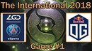 ПЕРВАЯ КАРТА THE INTERNATIONAL 8 PSG.LGD vs OG Map 1 bo2 RU TI8