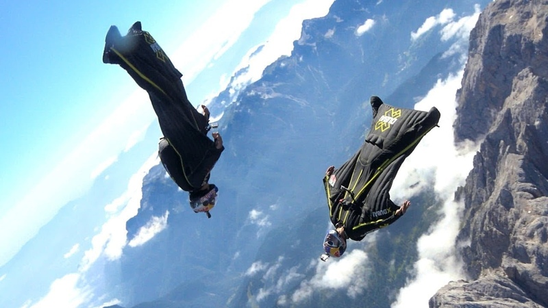 Awesome Wingsuit Flying High Adrenaline Action