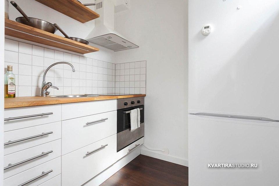 Квартира 33 м с кроватью внутри подиума в Варшаве / Польша - http://kvartirastudio.