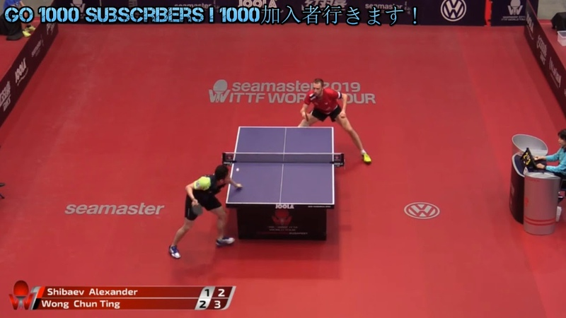 黄镇廷 vs 什巴耶夫 Hungarian Open SHIBAEV ALEXANDER VS WONG CHUN TING table tennis 2019
