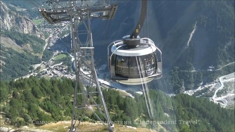 Monte Bianco, SkyWay, Courmayeur Italian alps Chamonix to Aiguille du Midi из Курмайор в Эгюий дю М