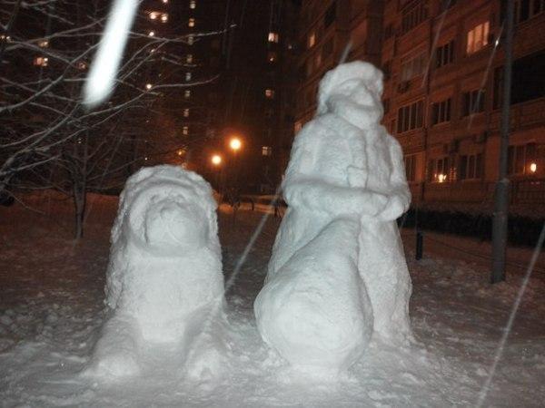 ВСЕМ НА РАДОСТЬ - энтузиасты слепили к Новому году скульптуры из снега в Тольятти  Wet0C6v8ufE