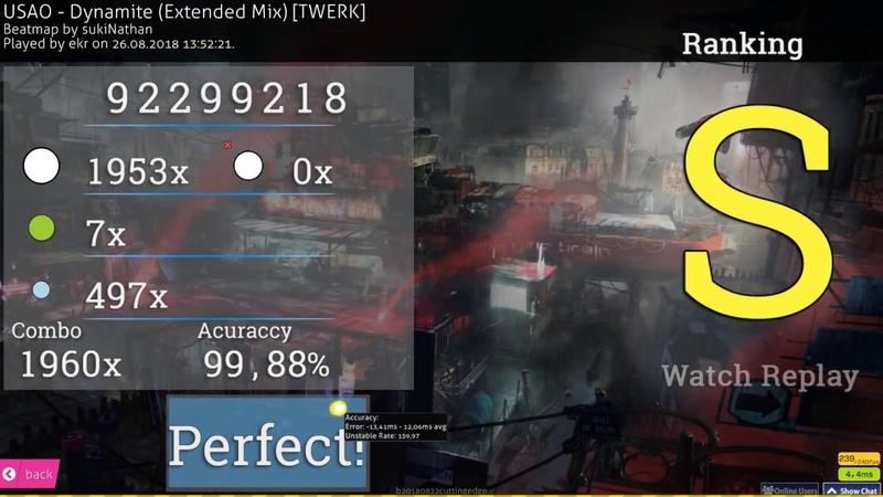 Osu!catch | ekr 🇯🇵 | USAO - Dynamite (Extended Mix) [TWERK] | 99.88% 1 FC 495pp