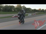 Hayabusa Stunts INSANE Highway Wheelies Drifts ALL STOCK BUSA GSXR 1300 Wheelie Street Bike Drifting