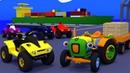 Мультики про машинки для малышей. Трактор Макс и квадроцикл. Устроим гонки с препятствиями.