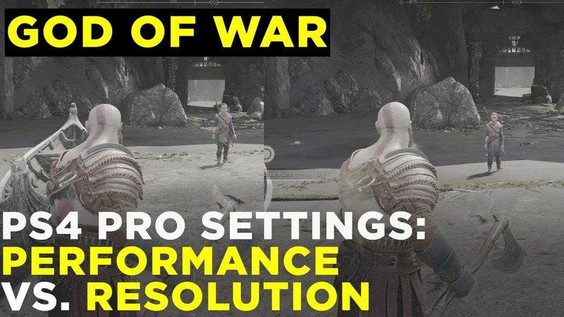 God of War on PS4 Pro: Performance Mode vs. Resolution Mode