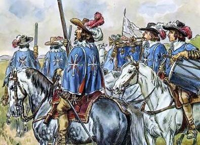Мушкетеры короля и гвардейцы кардинала Благодаря буйной фантазии Александра Дюма-отца весь мир знает и по романам, и по многочисленным кинофильмам, что во времена Людовика XIII существовали