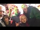 Никита Джигурда и Марина Анисина с детьми в Бордо накануне Нового Года (2017)