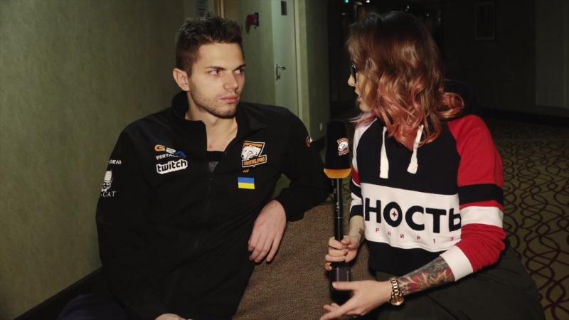 Послематчевое флеш-интервью с Ильей «Lil» Ильюком.