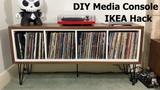 Media Storage Console | IKEA KALLAX Hack | DIY with Sad Piano Music!