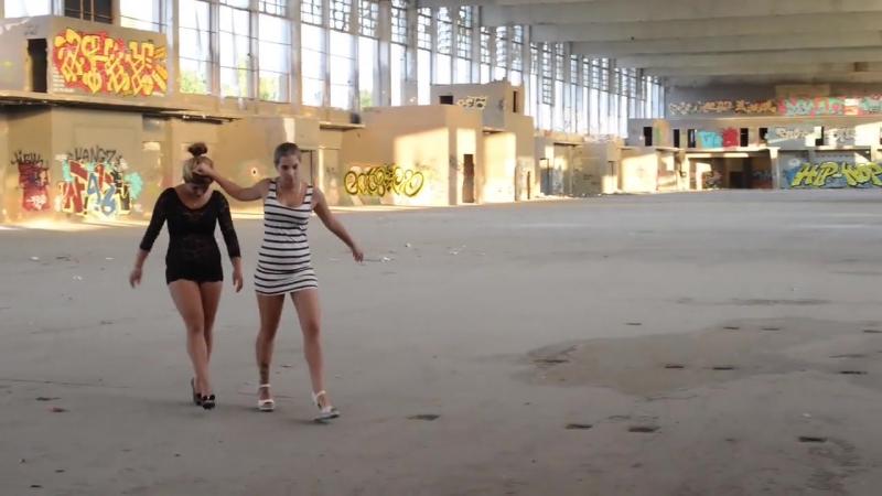 Bossy girl slaps her bitch