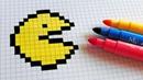 Handmade Pixel Art - How To Draw a Pac-man pixelart