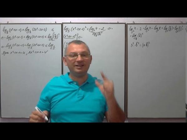 Задание 15 ЕГЭ 2019 по математике профиль Логарифмические неравенства часть 14