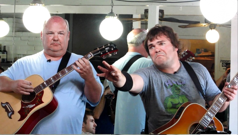 TENACIOUS D (JACK BLACK KYLE GASS) FUCK HER GENTLY LIVE FROM RIBS USA