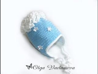 МК Теплая шапочка крючком с подкладом из флиса. (Часть 1) Crochet. Crocheted hat (cap).