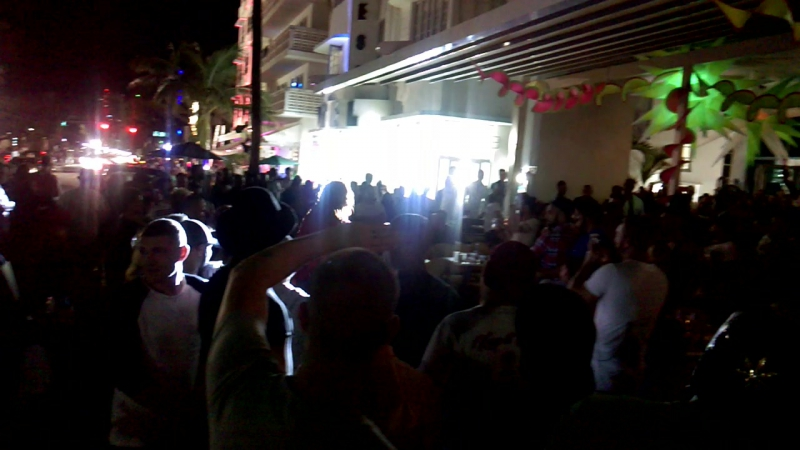 Miami Beach night life, and it is wild!