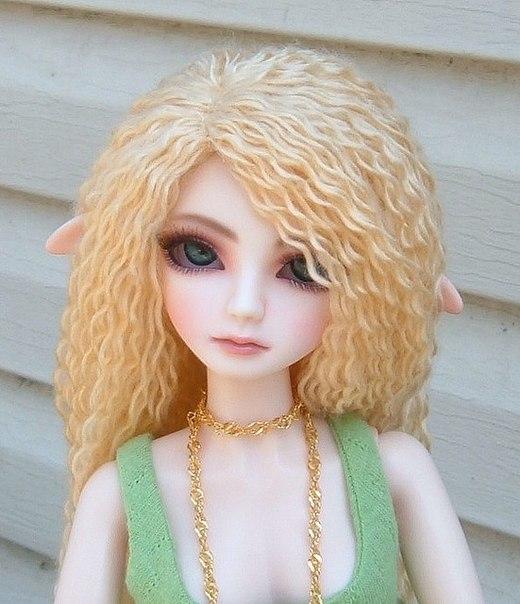 Волосы из шерстяных ниток для куклы