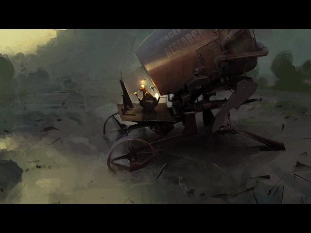 Peleng. Sped-up live stream session. Concept art research