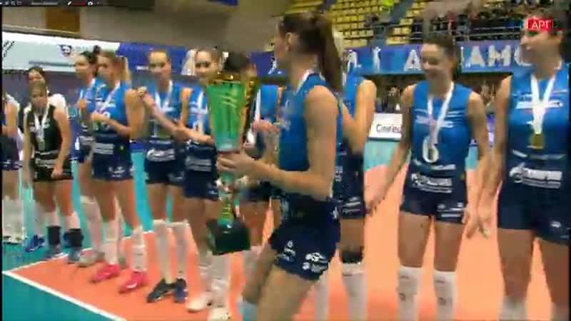 Награждение Жвк Динамо Москва золотыми медалями и Суперкубком, 08.12.2018