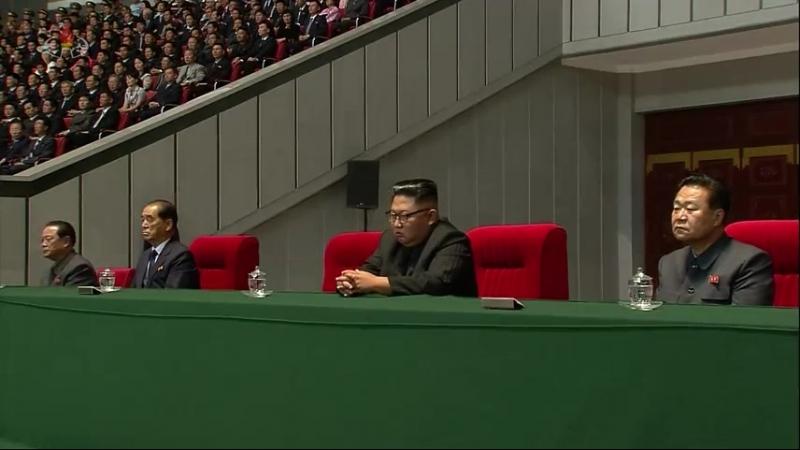 조선민주주의인민공화국창건 70돐경축 중앙보고대회 진행