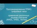 6. Программирование ПЛИС: цифровые часы на AHDL, VHDL, Verilog
