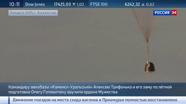 Новости на Россия 24 • Два летчика награждены орденами Мужества за спасение космонавтов