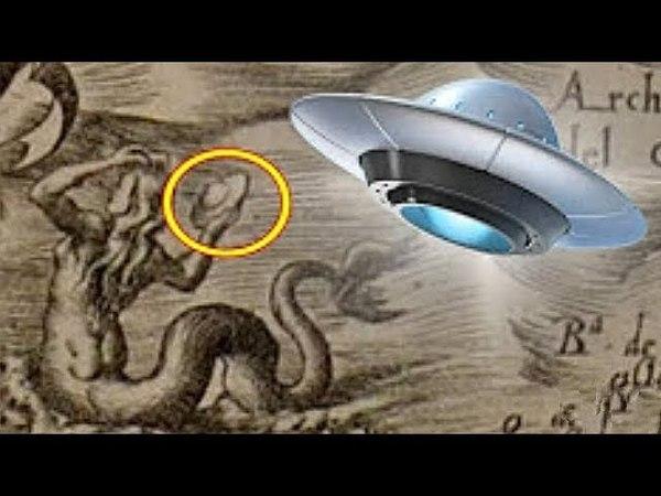 ¿Alte Karte Aus Dem 16. Jh. Zeigt MEERJUNGFRAU Mit UFO?