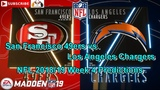 San Francisco 49ers vs. Los Angeles Chargers NFL 2018-19 Week 4 Predictions Madden NFL 19