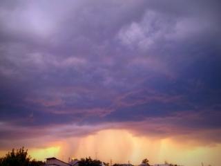 Закат во вpемя дождя(очень быстpая съемка)))) так как дождик уже начался).