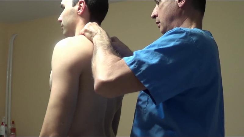 Коррекция позвоночника, вправляем шейный и грудной отдел. Spinal correction, Terapia manual, 矯正脊柱