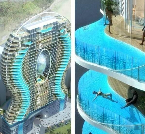 Отель в Мумбаи. Каждый номер со своим бассейном.