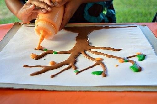 Краски своими руками для рисования