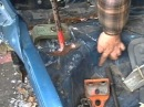 Backhoe autobody repair hillbilly Frame straighten a chassis