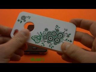 Чехол С УЗОРОМ И СТРАЗАМИ на iPhone 4 / 4s