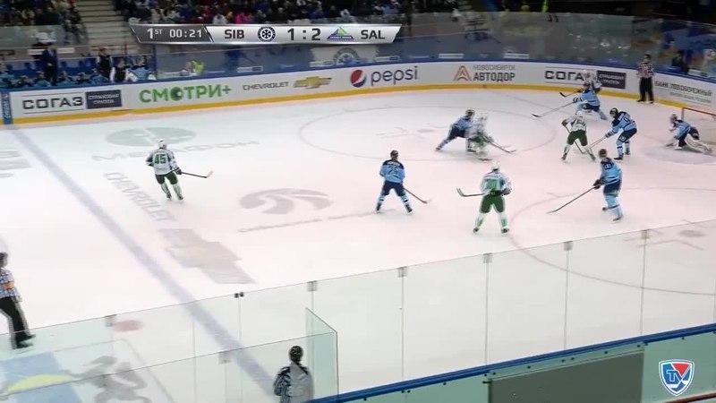 Моменты из матчей КХЛ сезона 14/15 • Гол. 1:3. Слепышев Антон (Салават Юлаев) увеличивает преимущество в счете 17.01