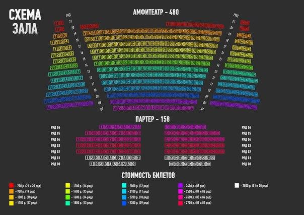 Стоимость билетов: от 700