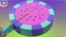 Цветной Торт Арбуз из Кинетического песка. Учим цвета Фруктов на английском. DIY
