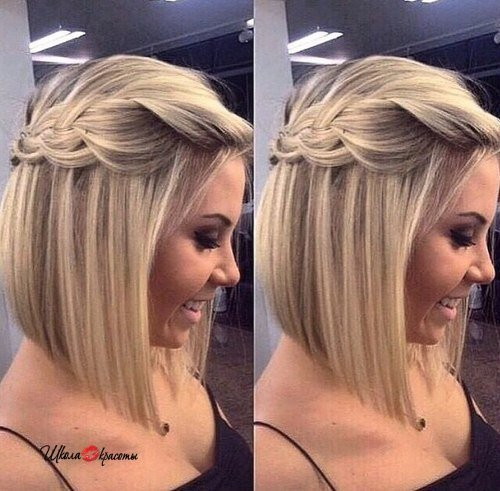 Блондинка с каре со спины