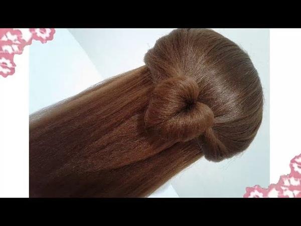 Peinados recogidos faciles para cabello largo bonitos y rapidos con trenzas para niña y fiestas7474