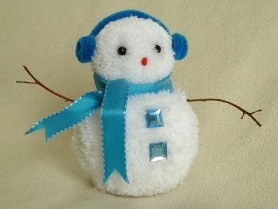Новогодние поделки своими руками как сделать снеговика
