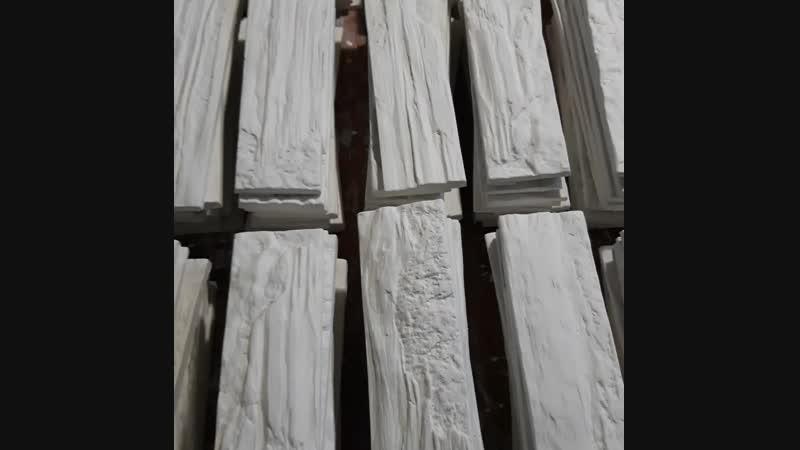 Декоративный камень из высокопрочного гипса Кирпич Древесный