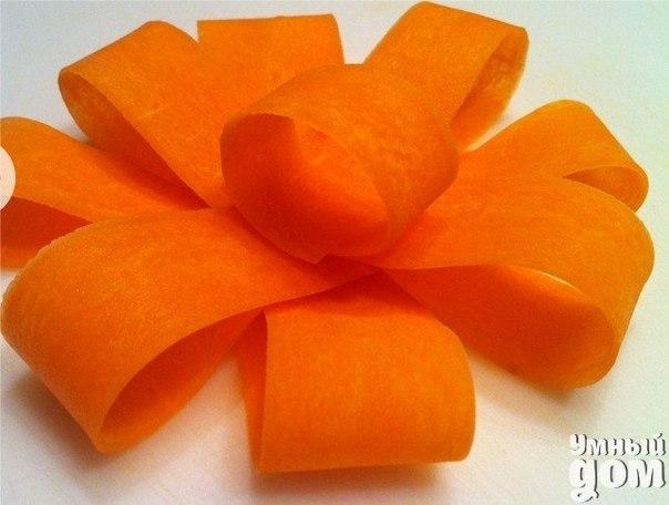 Кушаем красиво - Бант из моркови Вкусно жить не запретишь! Умная хозяюшка - на кухне ты Творишь!
