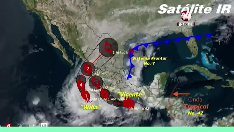 El huracán Willa subió a categoría 5, la máxima en la escala Saffir-Simpson ( 720 X 1280 ).mp4