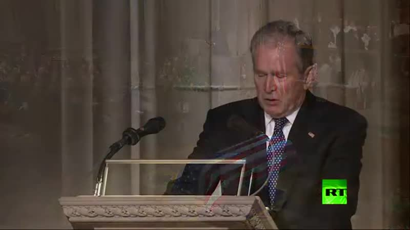 After the killing of one million Iraqis President Bush son crying his father
