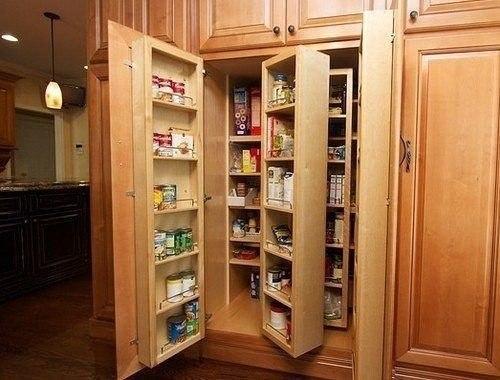 Вместительная кладовка на кухне (1 фото) - картинка