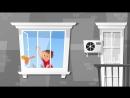 Дети не умеют летать Закрывайте окна Берегите детей