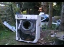 Destroy a Washer (Bosch) 17 jears old Waschmaschiene vs Stein Test3