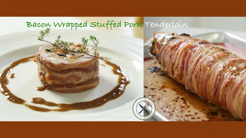Bacon Wrapped Stuffed Pork Tenderloin – Bruno Albouze – THE REAL DEAL